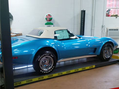 Inspection of 54 Convertible Corvette