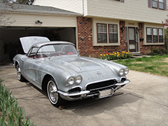 Inspection of 62 Convertible Corvette