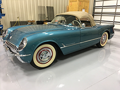 Inspection of 58 Convertible Corvette